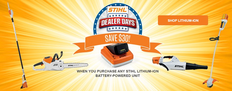 SAVE $30 on STIHL Lithium-Ion!